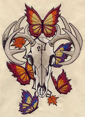 Deer Skull and Butterflies_image