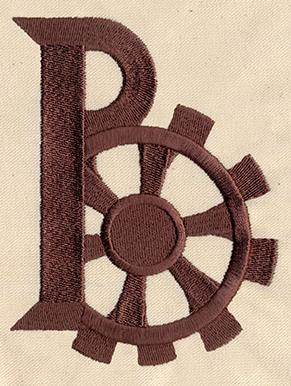 Steampunk Letter B - Uppercase_image