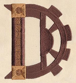 Steampunk Letter D - Uppercase_image