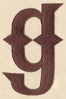 Steampunk Letter G - Lowercase_image