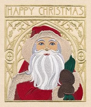 Art Nouveau Santa - Happy Christmas_image