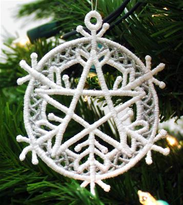 Five Elements Snowflake Ornament (Lace)_image