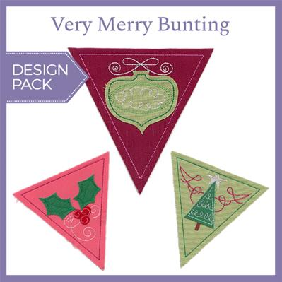 Very Merry Bunting (Design Pack)_image