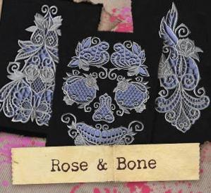 Rose & Bone (Cutwork) (Design Pack)_image