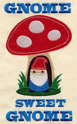 Gnome Sweet Gnome (Applique)_image