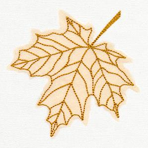 Diaphanous Autumn Maple Leaf (Applique)_image