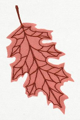 Diaphanous Autumn Oak Leaf (Applique)_image