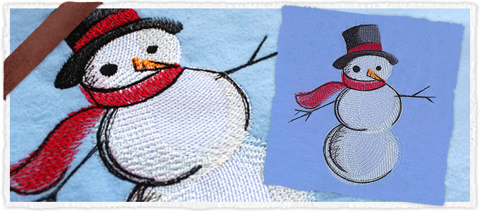 Painted Snowman