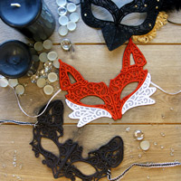 Multi-Piece Lace Mask_image