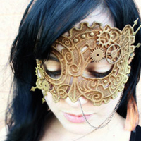 Steampunk Lace Mask_image