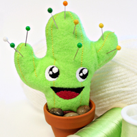Happy Cactus Pincushion_image