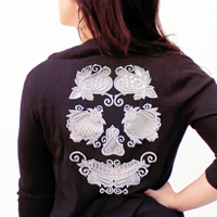 Rose & Bone Multi-Piece Cutwork Skull_image