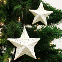 3D Lace Star Ornament_image