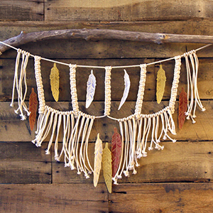 Macrame & Embroidery Wall Hanging_image
