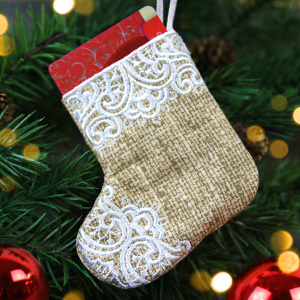 In-the-Hoop Christmas Stocking Ornament_image