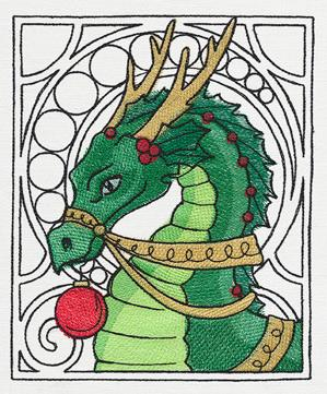Art Nouveau Christmas - Dragon_image