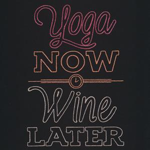 Athleisure - Yoga Now Wine Later_image
