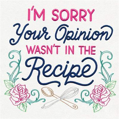 I'm Sorry, Your Opinion Wasn't in the Recipe_image