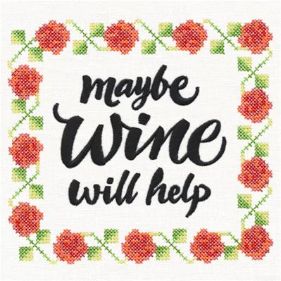 Maybe Wine Will Help (Cross Stitch)_image