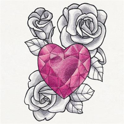 Heart Gem and Roses_image