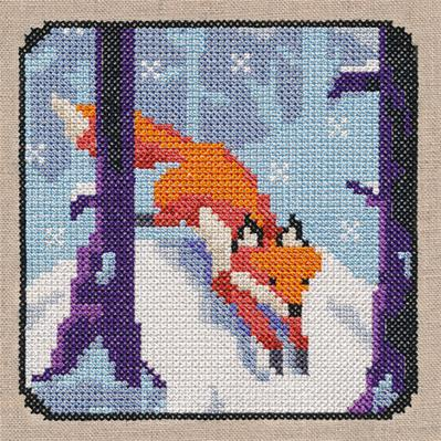 Fox Frolic (Cross Stitch)_image