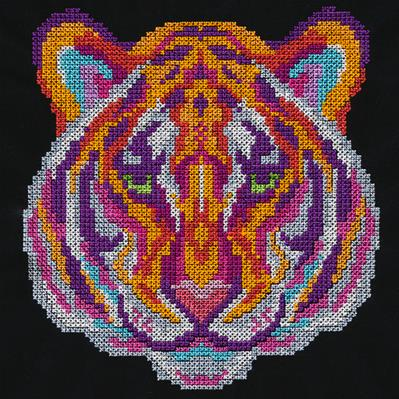 Vivid Tiger (Cross Stitch)_image
