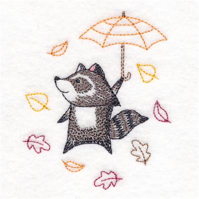 Blustery Autumn Raccoon_image