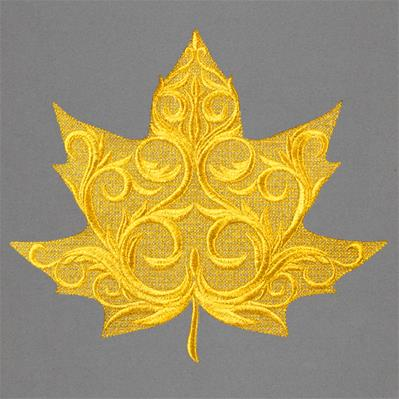 Baroque Maple Leaf (Embossed)_image