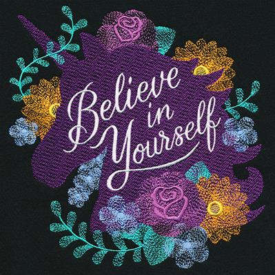 Believe in Yourself Blooming Unicorn_image
