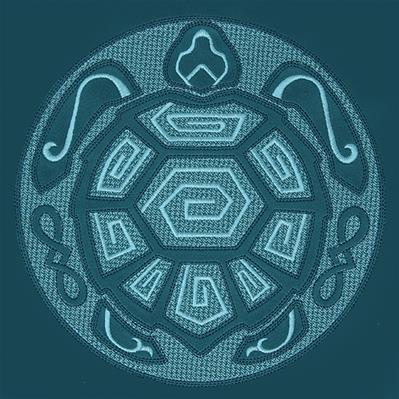 Sea Turtle Mandala (Embossed)_image