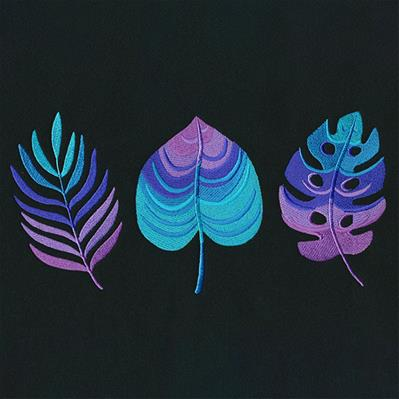 Ombre Tropical Leaves Trio_image