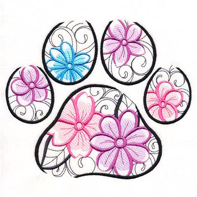 Floral Pawprint_image