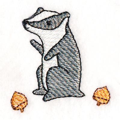 Adorable Woodland Badger_image