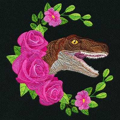Raptor and Roses Wreath_image