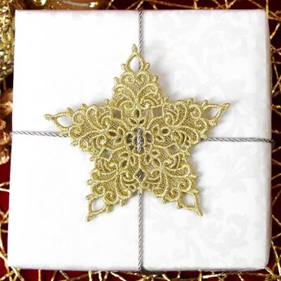 Shimmering Star Gift Topper (Lace)_image