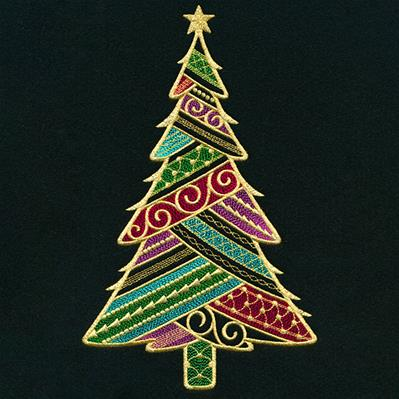Dazzling Filigree Christmas Tree_image
