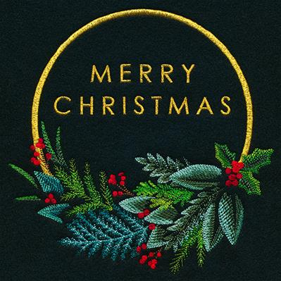 Modern Merry Christmas Wreath_image