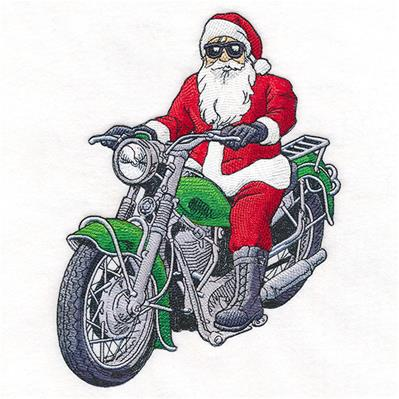 Chillin' Motorcycle Santa_image