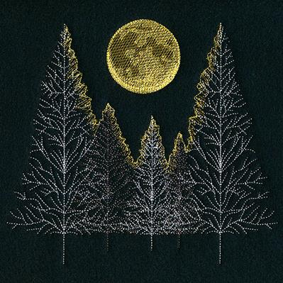 Glowing Moonlit Forest_image