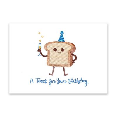 A Toast For Your Birthday (Cardstock)_image