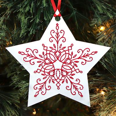 Simply Festive Star Ornament (Cardstock)_image