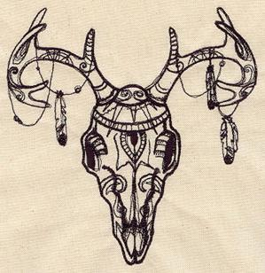 Tribal Deer Skull_image