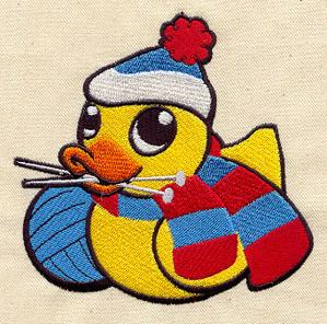 Knitting Duckie_image