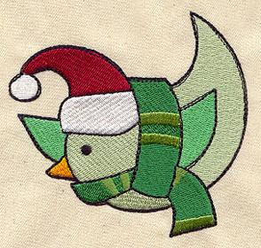 Bundled Up Santa Birdie_image