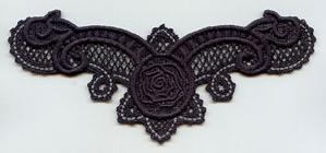 Black Rose Choker (Lace)_image