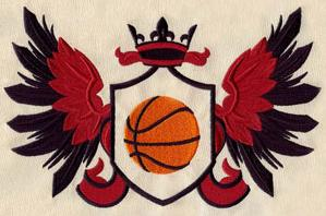 Sporty Basketball Crest_image