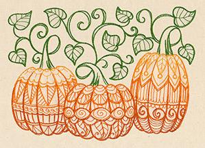 Patterned Pumpkins_image