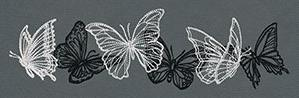 Flight & Dark Butterflies - Horizontal Border_image