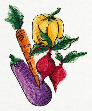 Painted Garden Veggies_image