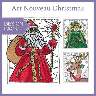 Art Nouveau Christmas (Design Pack)_image